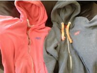 Two superdry hoodies, size L/XL (12/14)