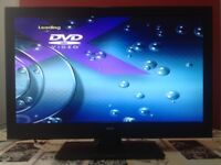 Bush 24 Inch Full HD Altra slim LED TV with Built in DVD player, Freeview, USB, great condition