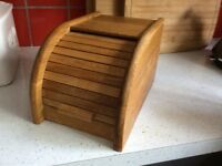 Bread bin wooden, used but in good condition