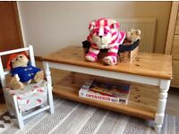 Vintage upcycled ducal coffee table