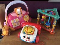 3 x baby/toddler toys