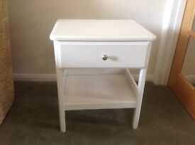 IKEA cream bedside table brand new