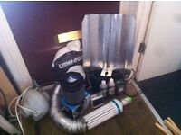 Grow room equipment. UNUSED. Light, extractor, all leads, filter plus more.