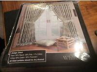 "NEW UNOPENED HEAVY LUXURY LINED CURTAINS 66""x90"" COST £99"