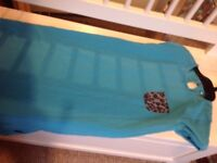 Name It blue dress with leopard print pocket Age 9-10 years