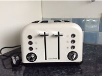 Brand new Morphy Richards 242005 Accents 4 slice white Toaster