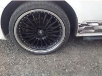 """Vw t5 20"""" alloys and tyres"""
