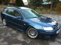 2006 SAAB 9-3 TID 6-SPEED TURBO DIESEL ESTATE **TOP SPEC**LEATHER TRIM**LONG MOT**