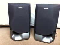 Exceptional Sony Speaker System - 2-way, 2-unit, Bass-reflex type, combining Quality with Power