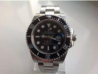 Rolex submariner – all steel – black face