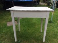 Old pine table/ desk painted in chalk paint.