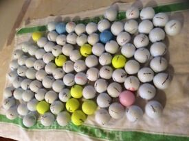 Golf Balls For Sale - 100 used good makes and good condition
