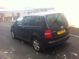 VW TOURAN 2.0 TDI DSG AUTOMATIC 2005 YEAR DRIVES EXCELLENT