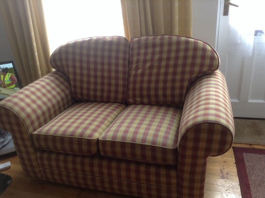Two Seater Sofa For Sale Red And Yellow Plaid In