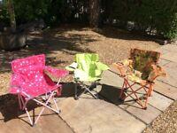 Kids' camping seats