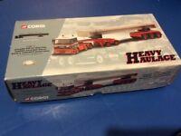 CORGI HEAVY HAULAGE LEYLAND DAF 85 TRACTOR ,TANDEM AXLE JEEP DOLLY ,BOGIE & CONCRETE BEAM LOAD