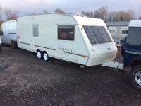 Abi mannequin 2002 very good condition full awning six birth caravan