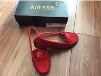 Ralph Lauren ladies red suede shoes - size 6 (39)
