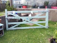 Wooden farm gate