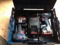 Bosch 18v combi drill &impact driver