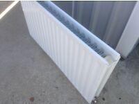 White double fin radiator