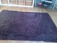 Chocolate Brown Shaggy Rug 120cm X 175cm