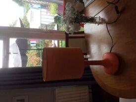 Orange table light