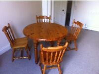 Dining Table and four matching chairs