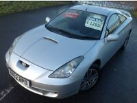 2002 TOYOTA CELICA 1.8 VVT - DRIVES SUPERB, NEW CLUTCH, NEW EXHAUST, UPGRADED ALLOYS, MOT NOVEMBER!!