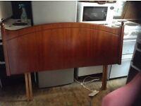Kingsize headboard,mahogany,£25.00