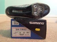 Bicycle shoes. Triathlon. Carbon. Size 8, 42 EU