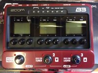 Zoom B3 multi effects bass pedal unit for bass guitar.