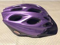 Cycle helmet bell vgc size medium purple