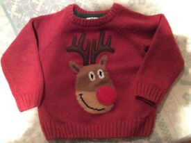 Boys Xmas jumper age 1-1.5 years 12-18 months