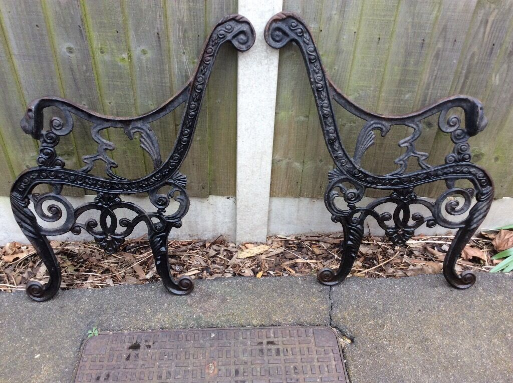 Original Victorian Cast Iron Lion Head Garden Bench Ends In Dagenham London Gumtree