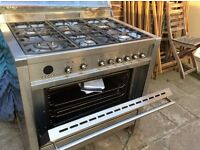 gas cooker and ventilator