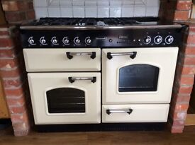 Rangemaster 1100 Duel fuel Cooker, cream and black