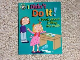 Book, I didn't do it