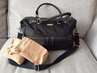 Storksak Caroline Black Nylon Changing Bag