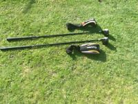 Taylormade 580 series 3 & 5 woods graphite regular shafts good condition, head covers with both