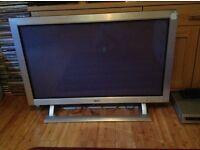 "Classic 42"" plasma screen . Glass screen , polished Aluminium frame"