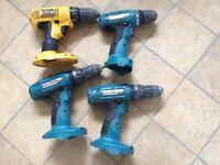 For spares and repair 2 Mikita 18v ,12v Mikita works fine ,dewalt 18v works fine