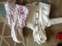 Girls knitted jacket and body warmer