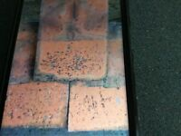 Roof tiles machine made clay 10x6
