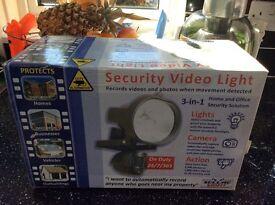Security video light