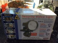 Security video light