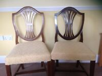 Two Dining / Side Chairs Pr Chairs upholstered seats