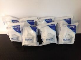 8 Brita MAXTRA water filters and one large jug (used) Bargain price!
