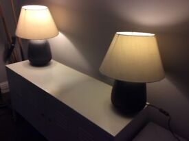 Two Matching Lamps - Suitable For Living Room, Dining or Conservatory