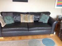 Charcoal grey XL Leather Sofa
